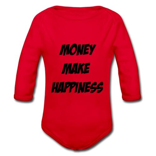 Money Make Happiness - Body ecologico per neonato a manica lunga