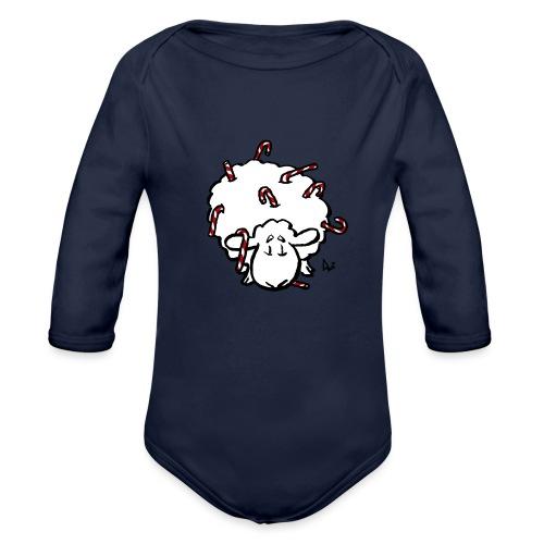 Candy Cane Sheep - Baby Bio-Langarm-Body