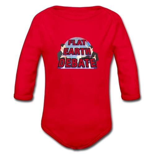 Flat Earth Debate - Organic Longsleeve Baby Bodysuit