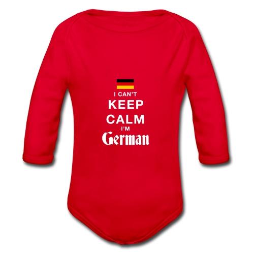 I CAN T KEEP CALM german - Baby Bio-Langarm-Body