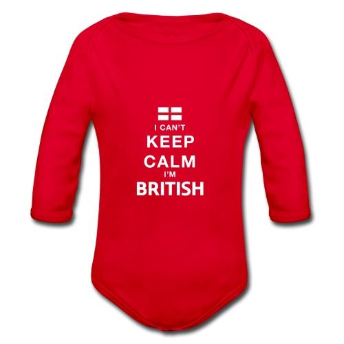 I CAN T KEEP CALM british - Baby Bio-Langarm-Body