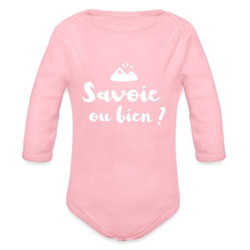 Savoie ou bien - Body Bébé bio manches longues