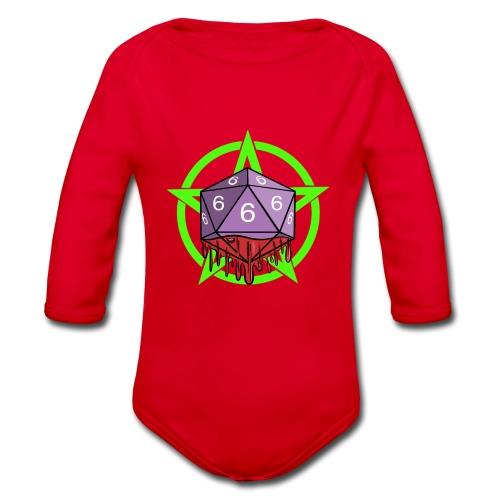 Würfel RPG Spiel Rollenspiele 666 mit Pentagramm - Baby Bio-Langarm-Body