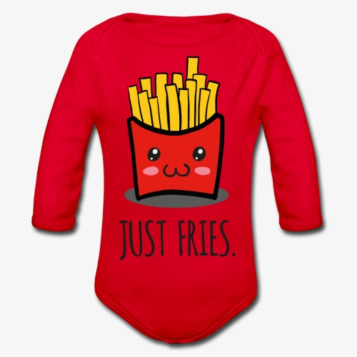 Just fries - Pommes - Pommes frites - Baby Bio-Langarm-Body