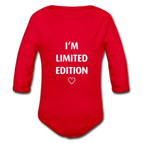 I'm limited edition - Body ecologico per neonato a manica lunga