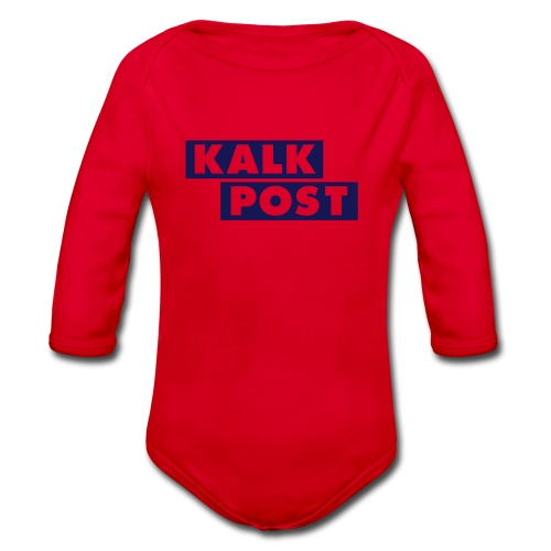 Kalk Post Balken - Baby Bio-Langarm-Body