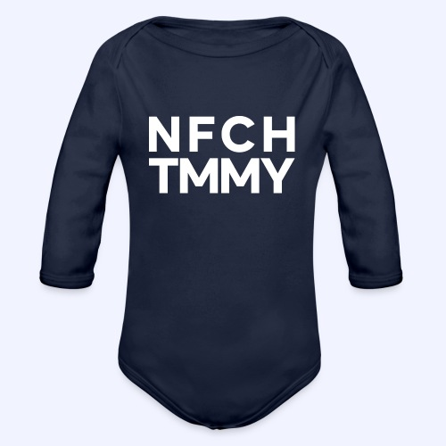 Einfach Tommy / NFCHTMMY / White Font - Baby Bio-Langarm-Body