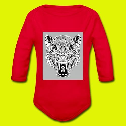 mandala tigre - Body ecologico per neonato a manica lunga