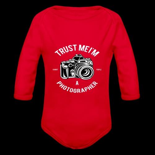 Trust me - I'm a Photographer - Baby Bio-Langarm-Body