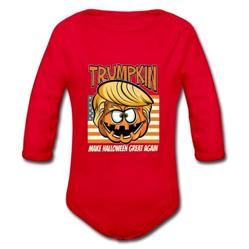 Trumpkin Donald Trump Halloween - Baby Bio-Langarm-Body