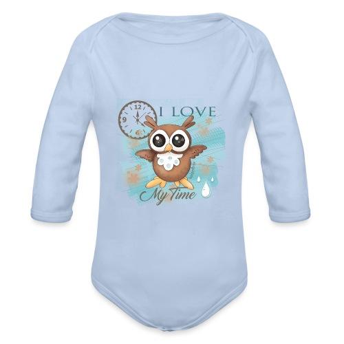 GUFO-E-TEMPO - Body ecologico per neonato a manica lunga