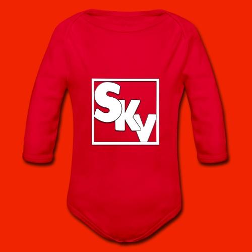 SerkanKetchupVlogs Logo (SKV Logo) - Baby bio-rompertje met lange mouwen