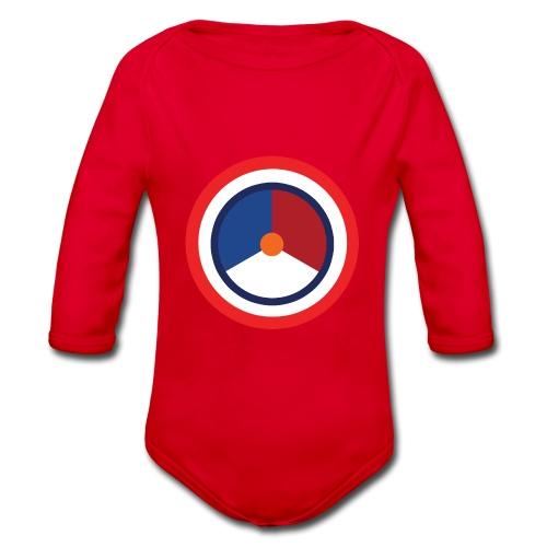 Nederland logo - Baby bio-rompertje met lange mouwen