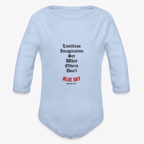 Limitless Imagination Zwart - Baby bio-rompertje met lange mouwen