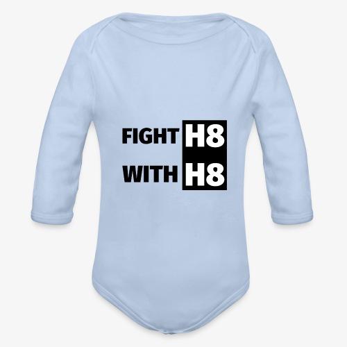 FIGHTH8 dark - Organic Longsleeve Baby Bodysuit