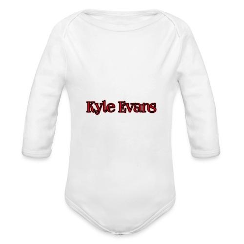 KYLE EVANS TEXT T-SHIRT - Organic Longsleeve Baby Bodysuit