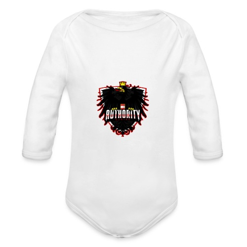 AUThority Gaming red - Baby Bio-Langarm-Body