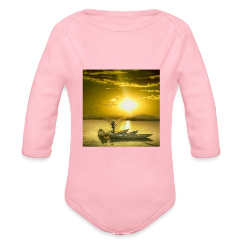 Tramonto - Body ecologico per neonato a manica lunga