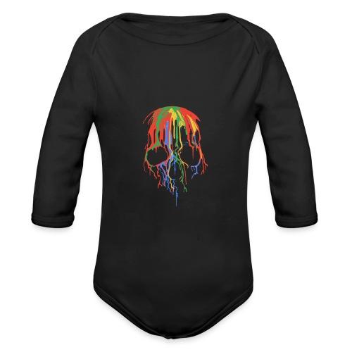 Skull and Colours - Body orgánico de manga larga para bebé