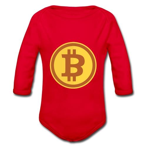 Bitcoin - Baby Bio-Langarm-Body