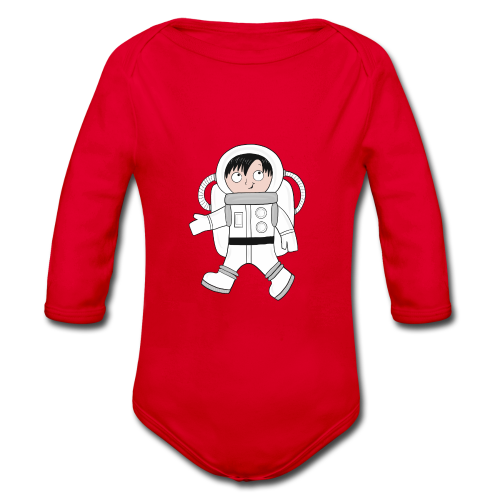 Astronaut - Baby Bio-Langarm-Body