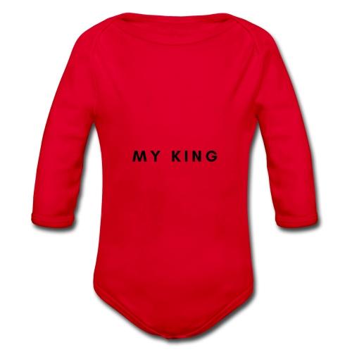 My king - Baby bio-rompertje met lange mouwen
