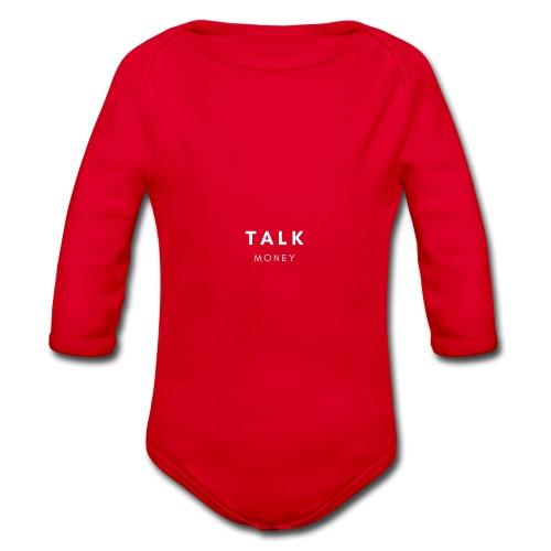 Talk money - Baby bio-rompertje met lange mouwen