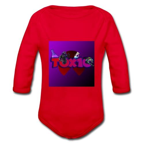 toxic paita - Vauvan pitkähihainen luomu-body
