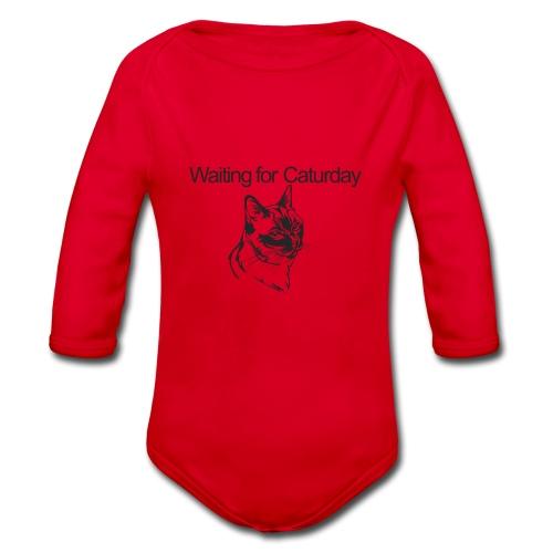 Caturday - Organic Longsleeve Baby Bodysuit