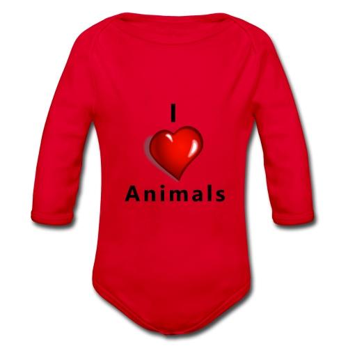i love animals - Baby bio-rompertje met lange mouwen