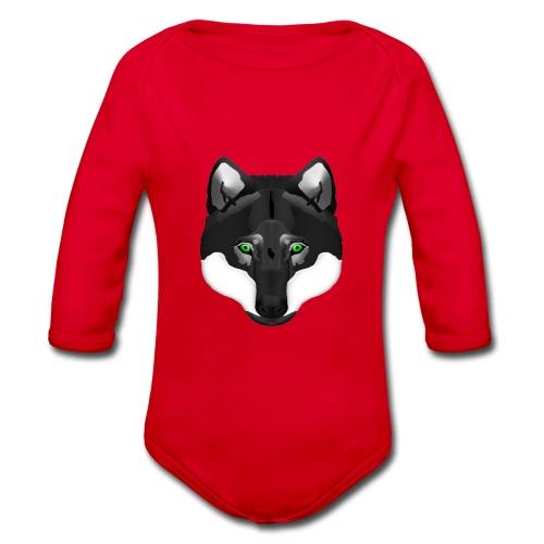 Wolf Head - Baby Bio-Langarm-Body