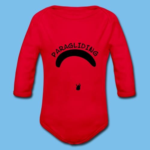 Paragliding Gleitschirmflieger Geschenk T-Shirt - Baby Bio-Langarm-Body