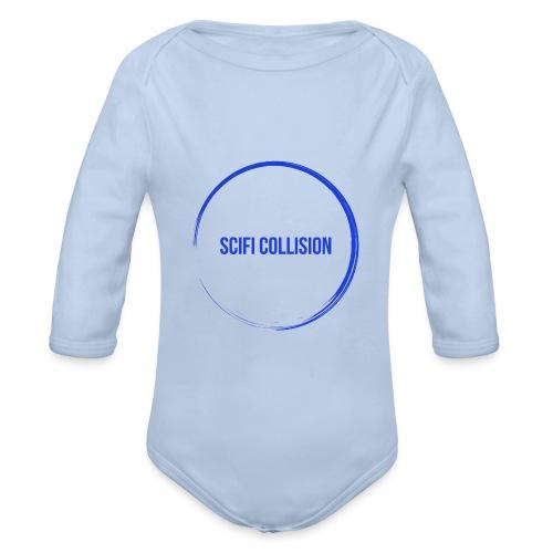 Dark Blue Logo - Organic Longsleeve Baby Bodysuit