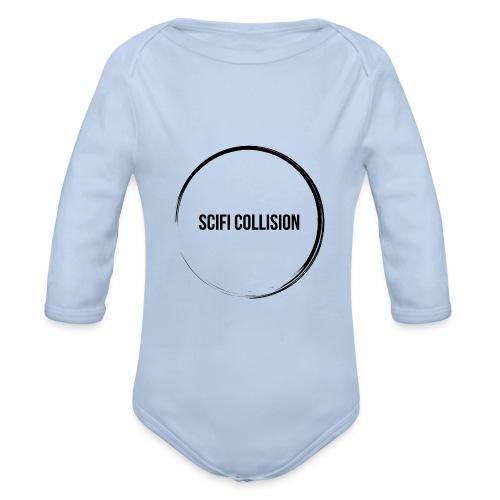 Black Logo - Organic Longsleeve Baby Bodysuit