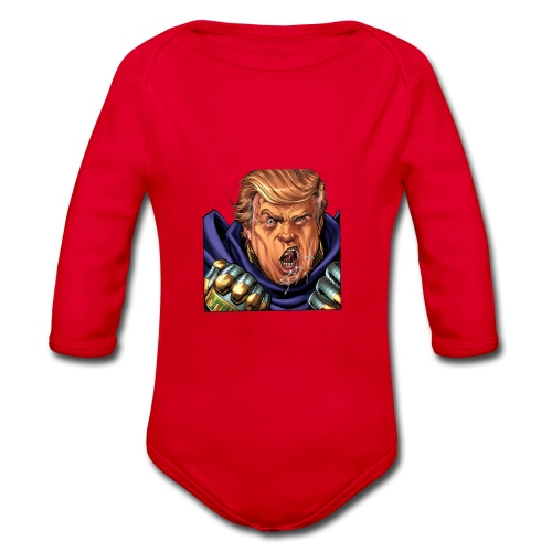 trump cartoon characters free to pull the material - Body Bébé bio manches longues