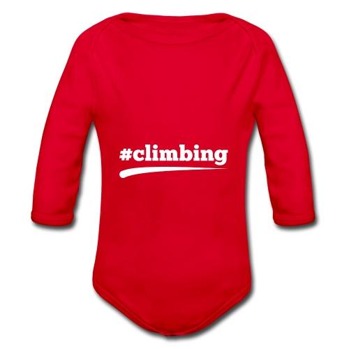 #CLIMBING - Baby Bio-Langarm-Body