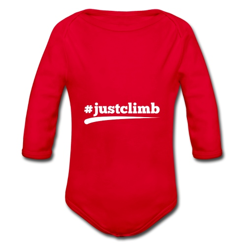 #JUSTCLIMB - Baby Bio-Langarm-Body