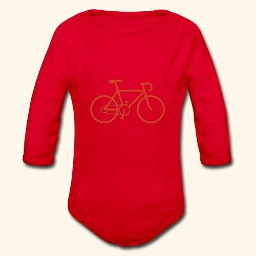 Rennrad, Race-Bike, Fahrrad - Baby Bio-Langarm-Body