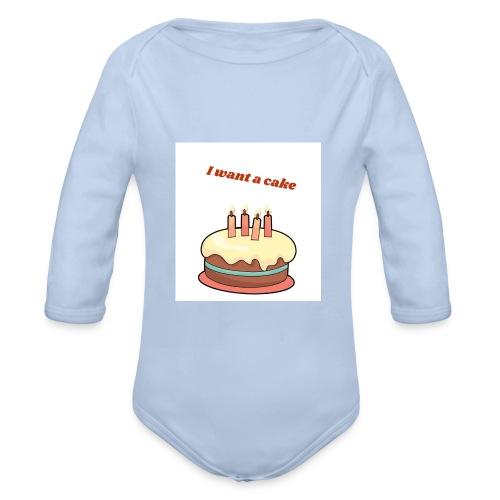 I want a cake - Ekologisk långärmad babybody