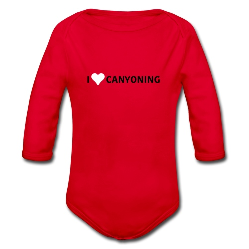 I Love Canyoning - Baby Bio-Langarm-Body