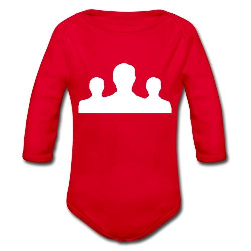 Ontmaskerd Shirt - Baby bio-rompertje met lange mouwen
