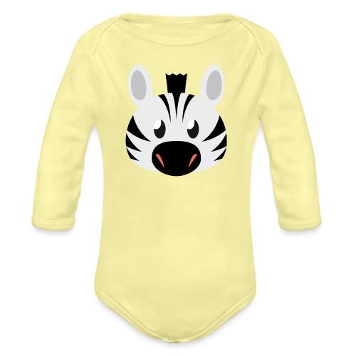 Zebra Zoe - Organic Longsleeve Baby Bodysuit
