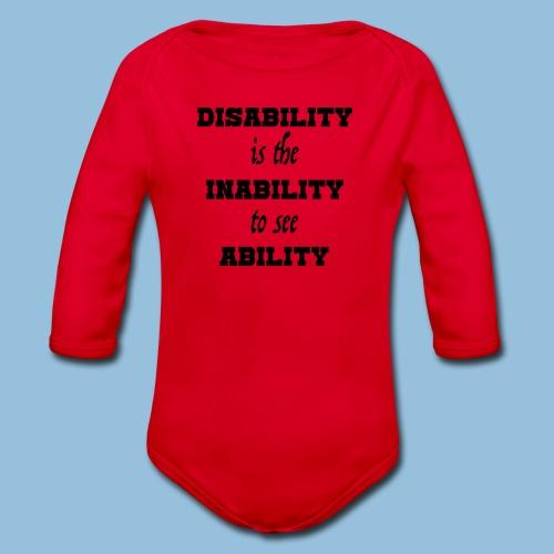 Ability4 - Baby bio-rompertje met lange mouwen