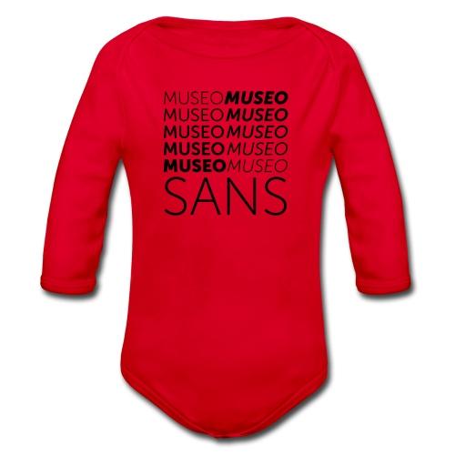museo sans - Organic Longsleeve Baby Bodysuit