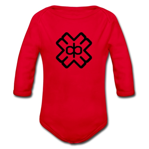 d3ep logo black png - Organic Longsleeve Baby Bodysuit