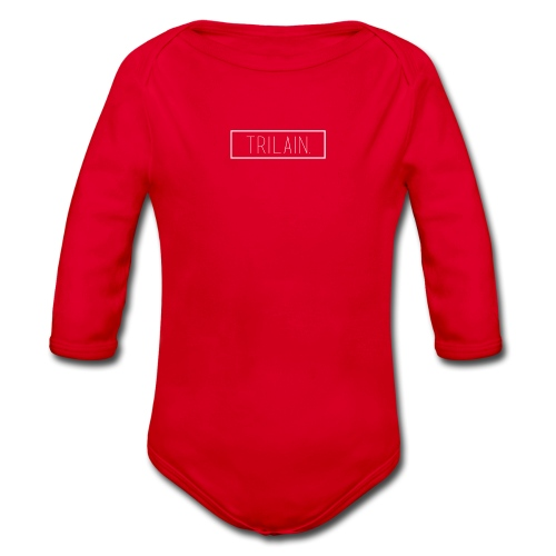 Trilain - Box Logo T - Shirt Black - Baby bio-rompertje met lange mouwen