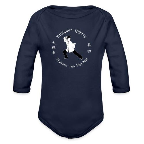 Teo Mei Mei White Logo - Ekologisk långärmad babybody