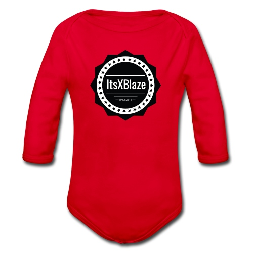 ItsXBlaze Logo 2 V-Neck Option 1 - Baby bio-rompertje met lange mouwen