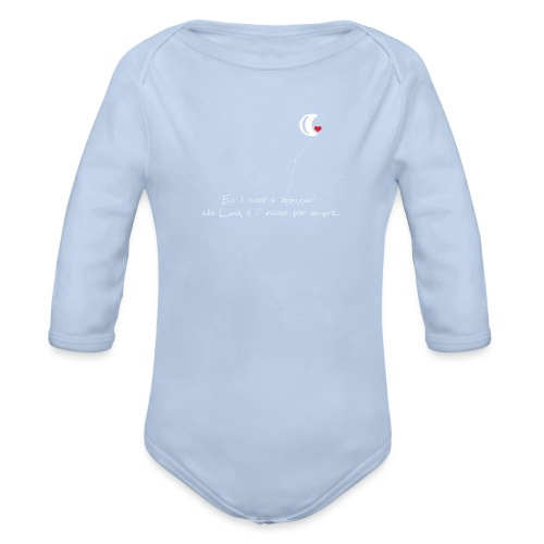 CUORE-E-LUNA - Body ecologico per neonato a manica lunga
