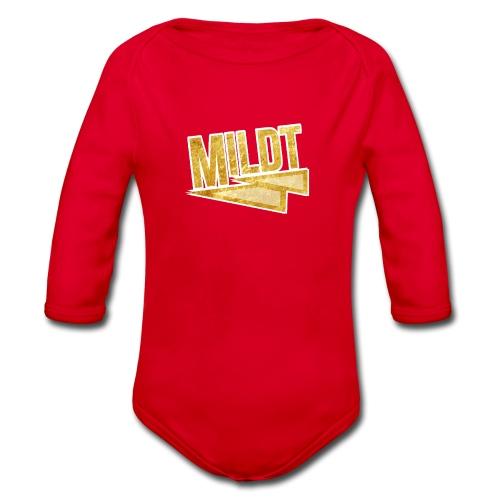 MILDT Gouden Vrouwen Shirt - Baby bio-rompertje met lange mouwen